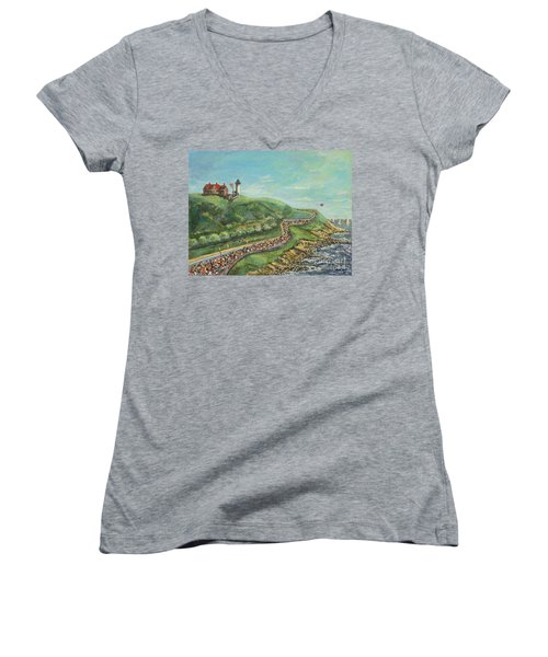 Falmouth Road Race Women's V-Neck T-Shirt