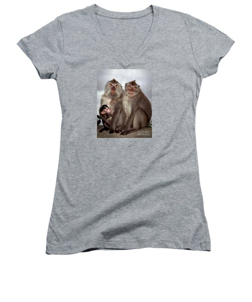 Family Portrait Women's V-Neck