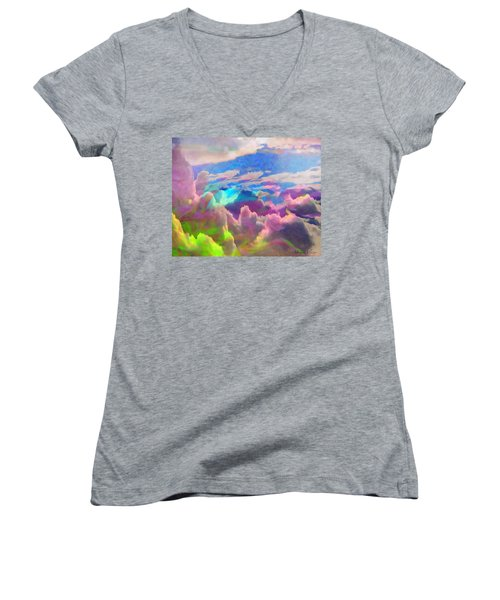 Abstract Fantasy Sky Women's V-Neck (Athletic Fit)