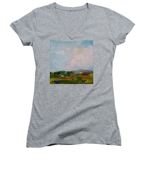 Farmland IIi Women's V-Neck T-Shirt
