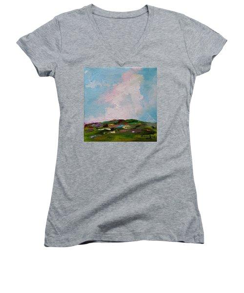 Farmland Iv Women's V-Neck T-Shirt