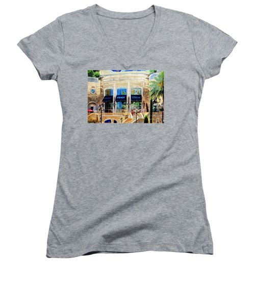 Fashion Vegas Style Women's V-Neck T-Shirt (Junior Cut) by Barbara Chichester