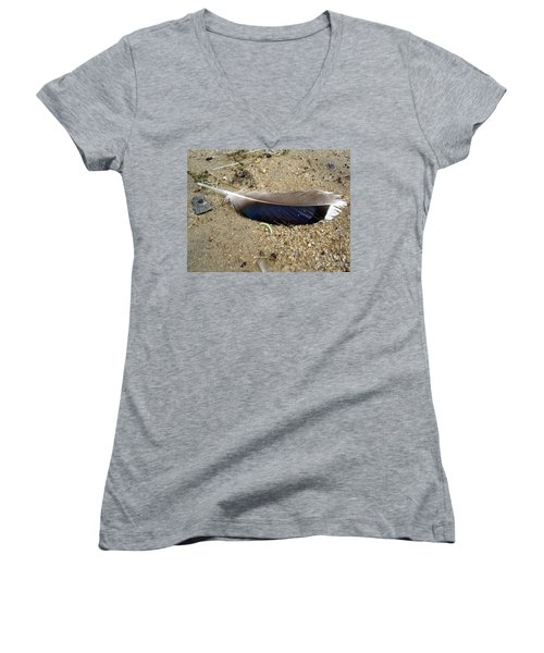 Feather And Inchworm Women's V-Neck