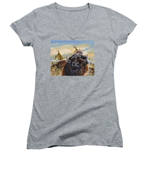 Feed The Fire Women's V-Neck