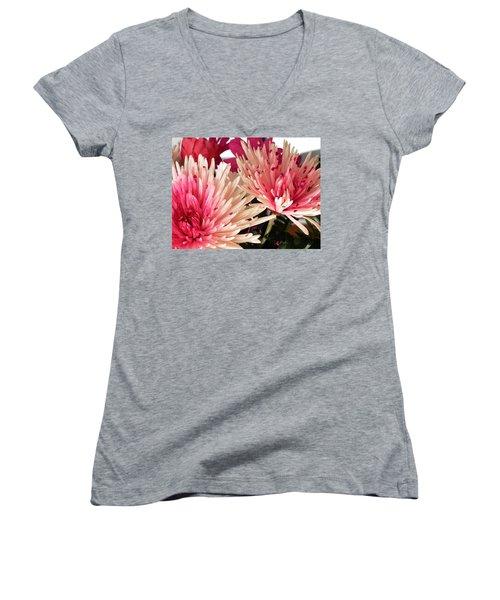 Feel The Heart Felt Love Women's V-Neck T-Shirt (Junior Cut) by Belinda Lee