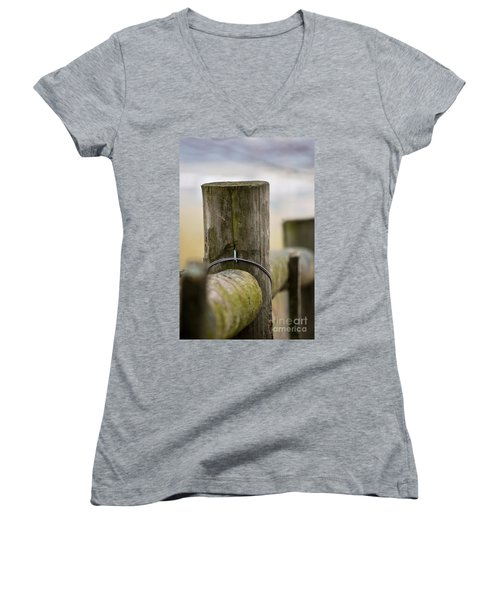 Fence Post Women's V-Neck (Athletic Fit)