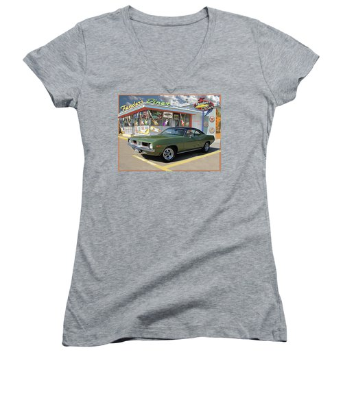 Fenders Diner Women's V-Neck (Athletic Fit)