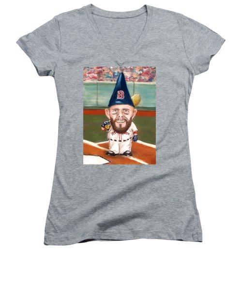 Fenway's Garden Gnome Women's V-Neck (Athletic Fit)