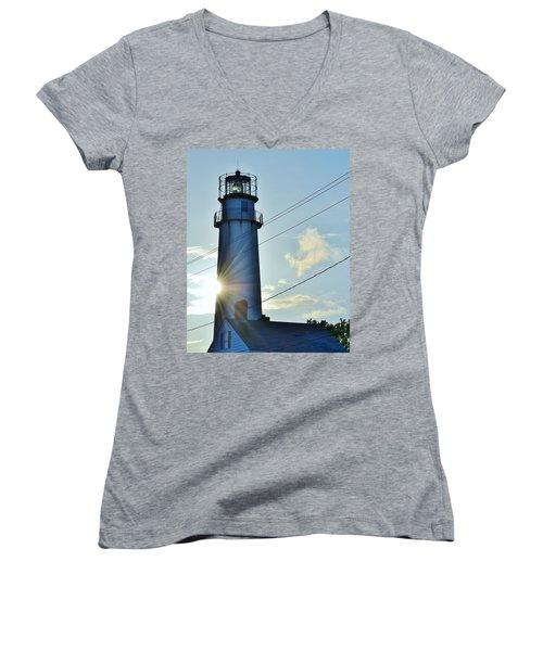 Fenwick Island Lighthouse - Delaware Women's V-Neck