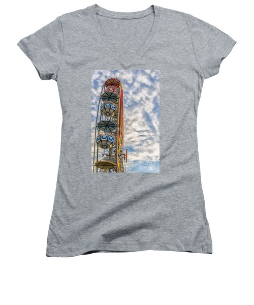 Ferris Wheel Women's V-Neck (Athletic Fit)