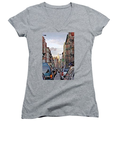 Festive Nyc Women's V-Neck