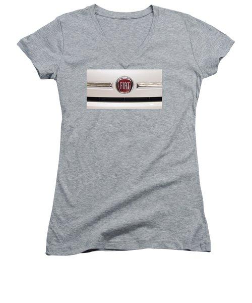 Fiat Logo Women's V-Neck T-Shirt (Junior Cut) by Valentino Visentini