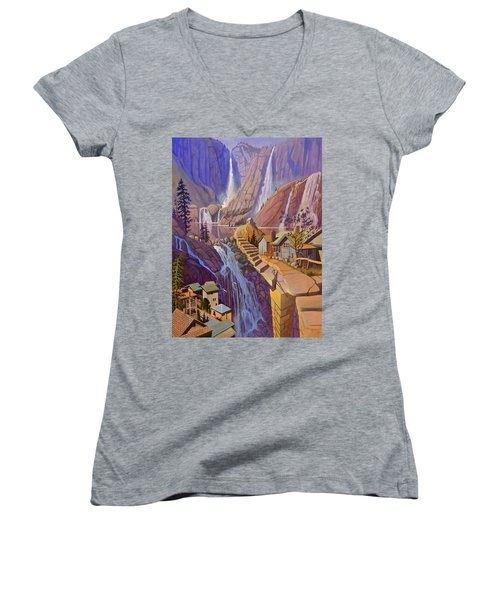 Fibonacci Stairs Women's V-Neck T-Shirt