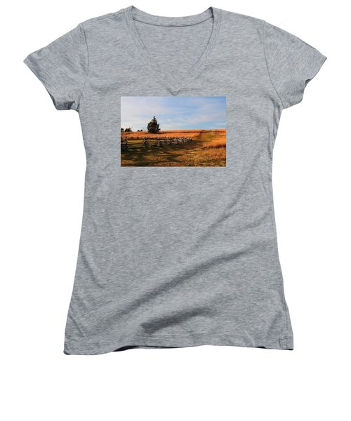 Field Of Shadows Women's V-Neck (Athletic Fit)