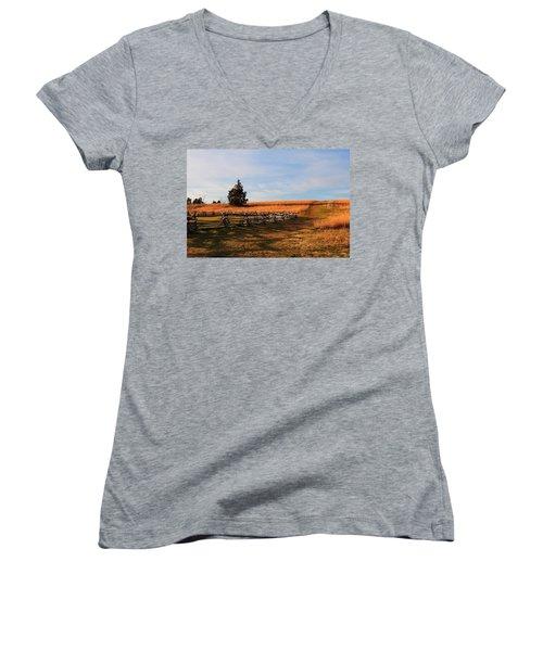 Field Of Shadows Women's V-Neck T-Shirt