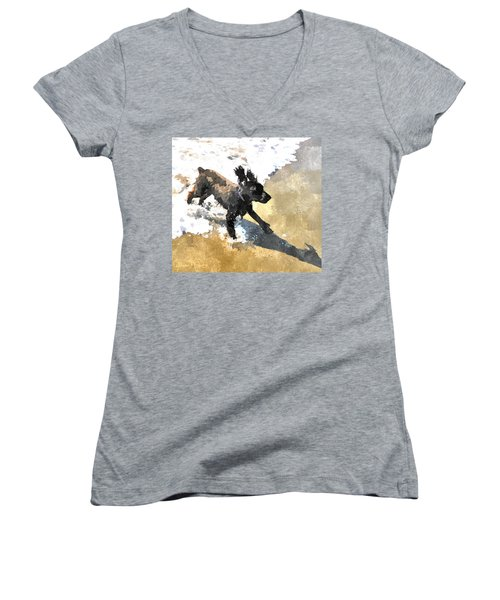 Field Spaniel Joy Women's V-Neck (Athletic Fit)