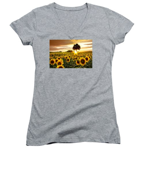 Fields Of Gold Women's V-Neck (Athletic Fit)