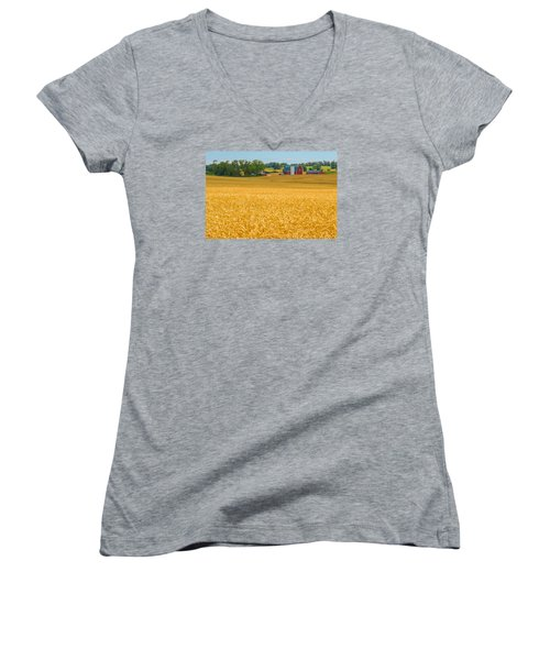 Fields Of Gold Women's V-Neck