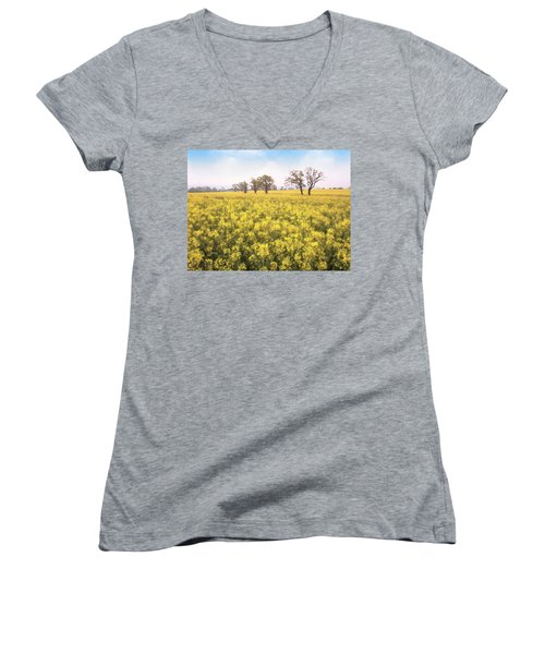Fields Of Yellow Women's V-Neck T-Shirt