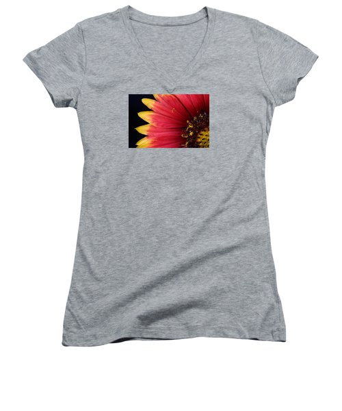 Women's V-Neck T-Shirt (Junior Cut) featuring the photograph Fire Spokes by Paul Rebmann