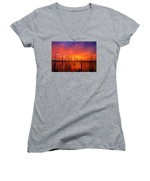 Fired Up Morn Women's V-Neck (Athletic Fit)
