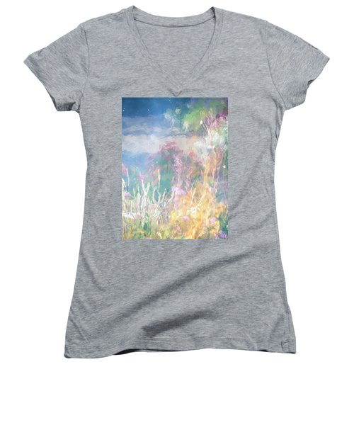 Women's V-Neck T-Shirt (Junior Cut) featuring the photograph Fireweed Number 9  by Brian Boyle