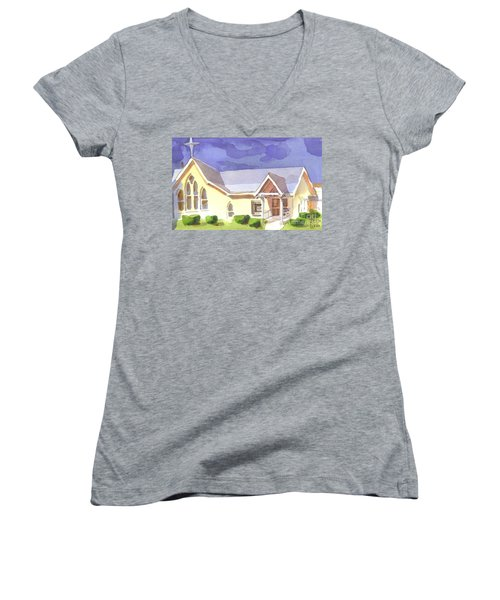 First Presbyterian Church II Ironton Missouri Women's V-Neck