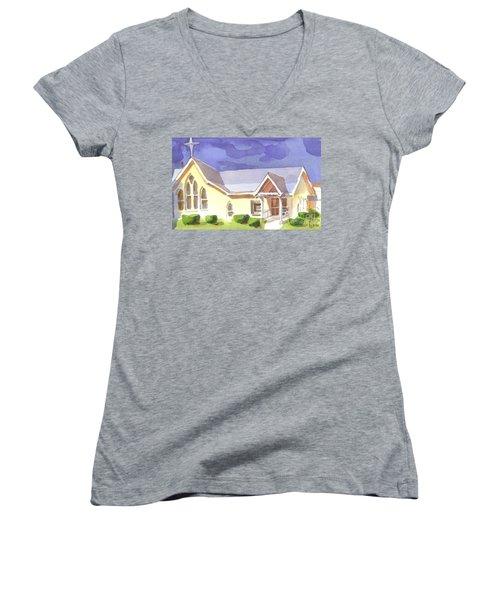 First Presbyterian Church II Ironton Missouri Women's V-Neck