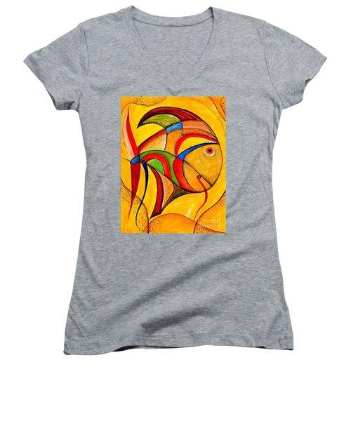 Fish 534-11-13 Marucii Women's V-Neck