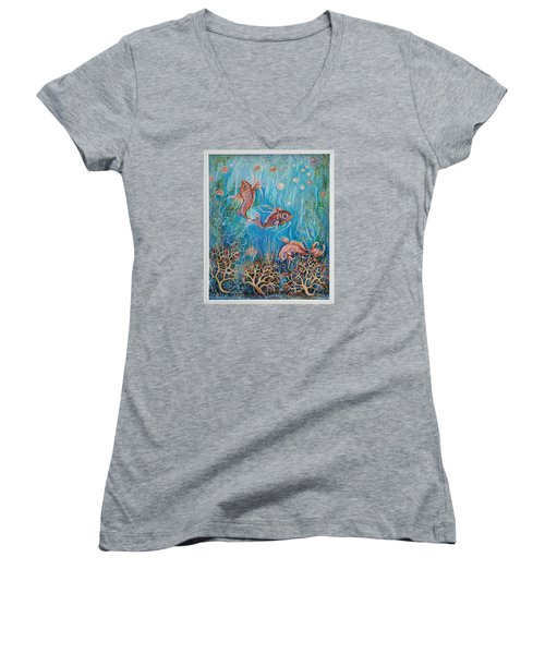 Fish In A Pond Women's V-Neck T-Shirt