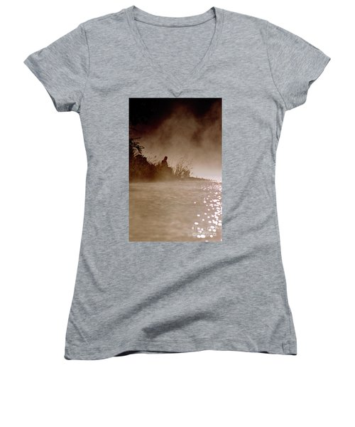 Fisher In The Mist Women's V-Neck (Athletic Fit)