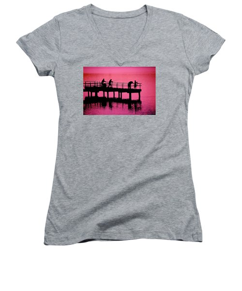 Fishermen Women's V-Neck T-Shirt