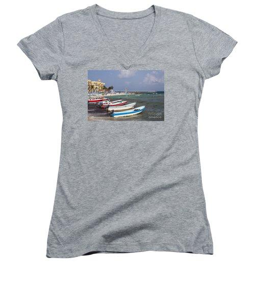 Fishing Boats Women's V-Neck