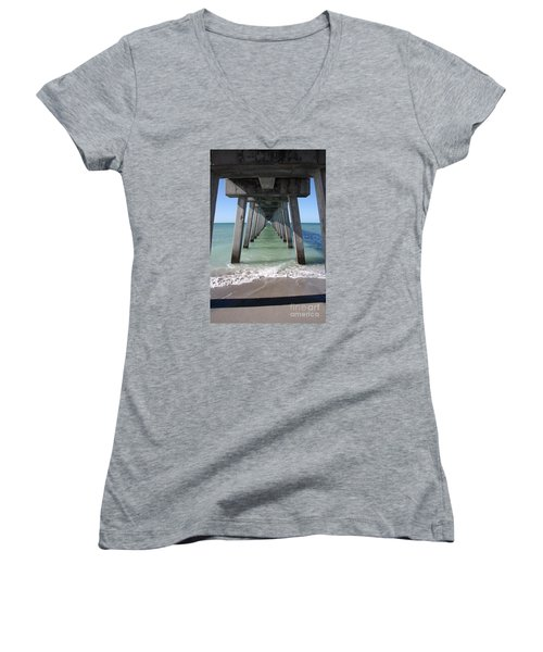 Fishing Pier Architecture Women's V-Neck (Athletic Fit)