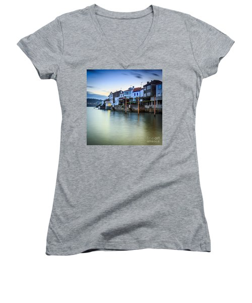 Fishing Town Of Redes Galicia Spain Women's V-Neck (Athletic Fit)