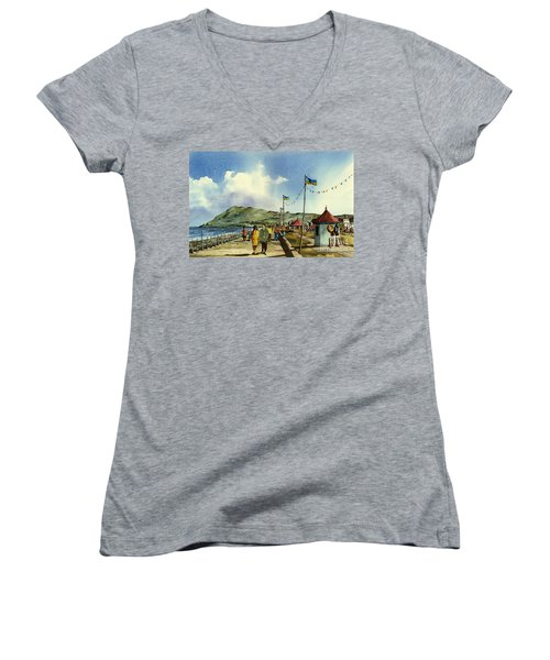 As I Walk Along The Promenade With An Independant Air  ....... Women's V-Neck