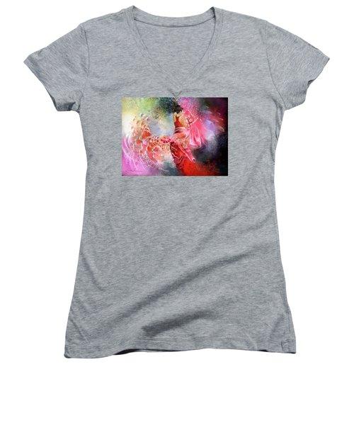Flamencoscape 13 Women's V-Neck T-Shirt