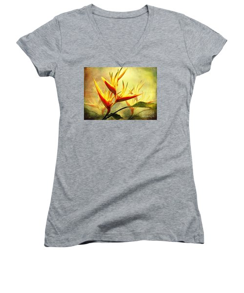 Flames Of Paradise Women's V-Neck (Athletic Fit)