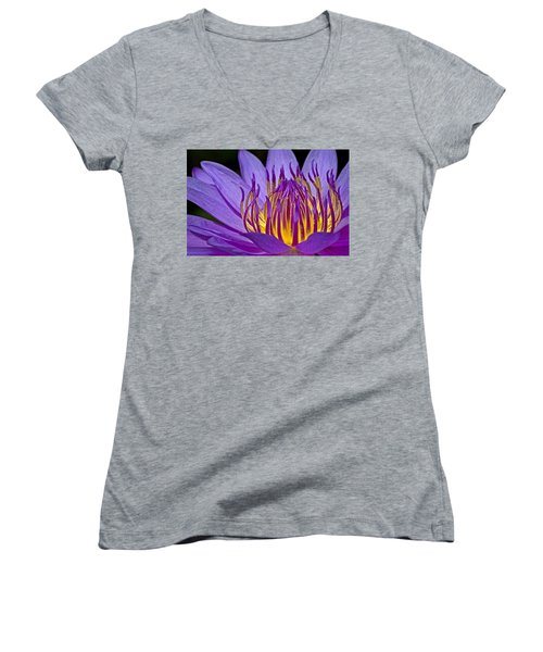 Flaming Heart Women's V-Neck