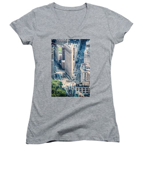Flat Iron Building Women's V-Neck