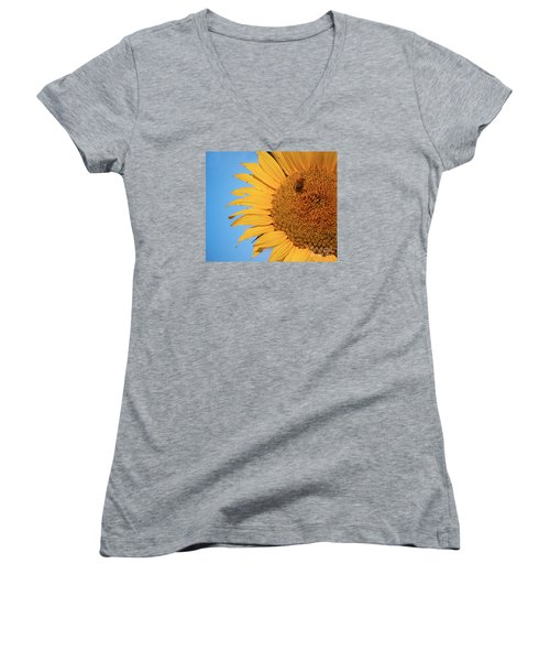 Women's V-Neck T-Shirt (Junior Cut) featuring the photograph Flawed Beauty by Rima Biswas