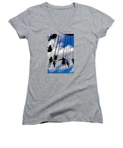 Flight Women's V-Neck T-Shirt (Junior Cut) by Caitlyn  Grasso