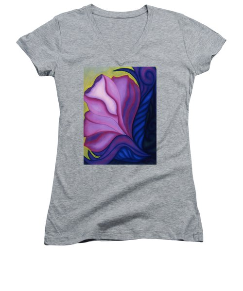Flora Women's V-Neck T-Shirt (Junior Cut) by Susan Will