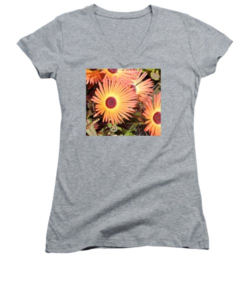 Women's V-Neck T-Shirt (Junior Cut) featuring the photograph Floral by Cathy Mahnke