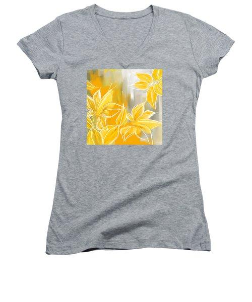 Floral Glow Women's V-Neck T-Shirt