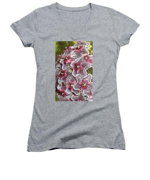 Floral Presence - Signed Women's V-Neck (Athletic Fit)