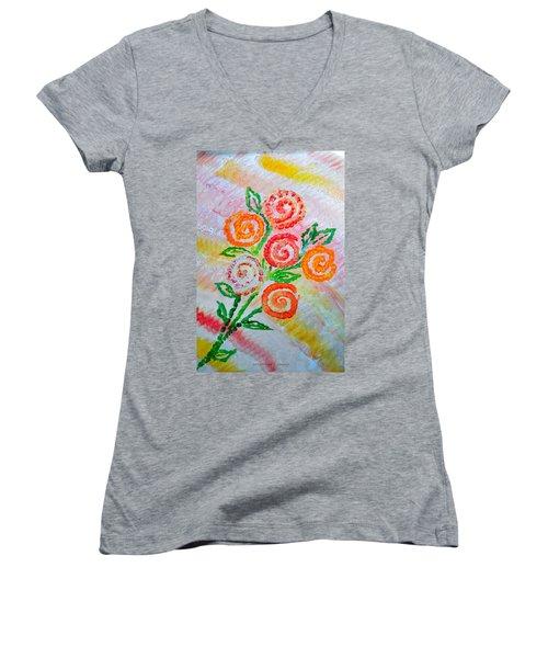Floralen Traum Women's V-Neck T-Shirt