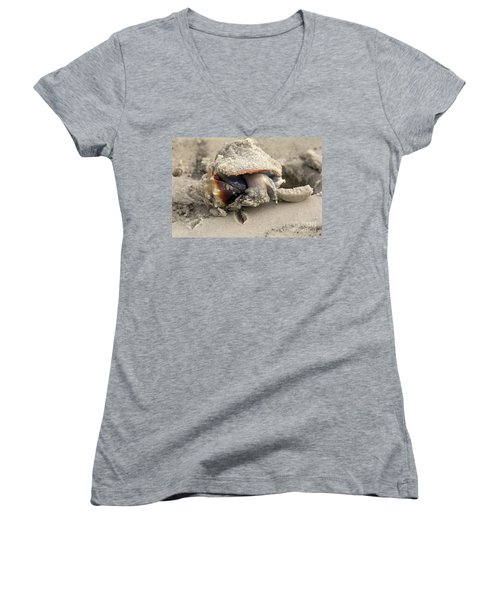 Women's V-Neck T-Shirt (Junior Cut) featuring the photograph Florida Fighting Conch by Meg Rousher