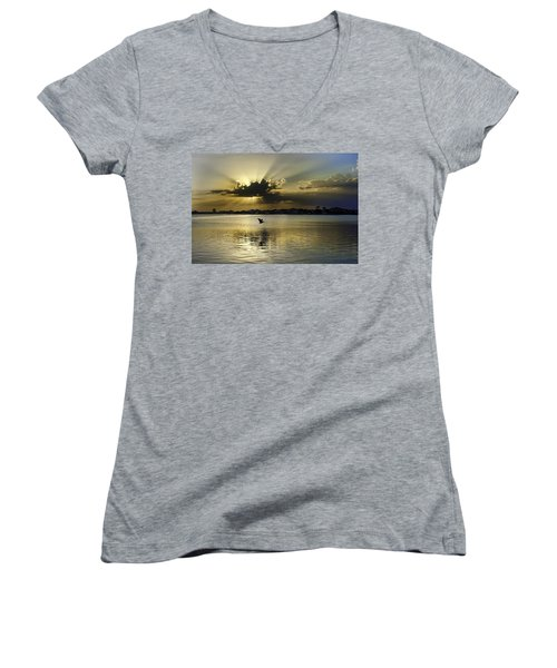 Florida Sunset Women's V-Neck