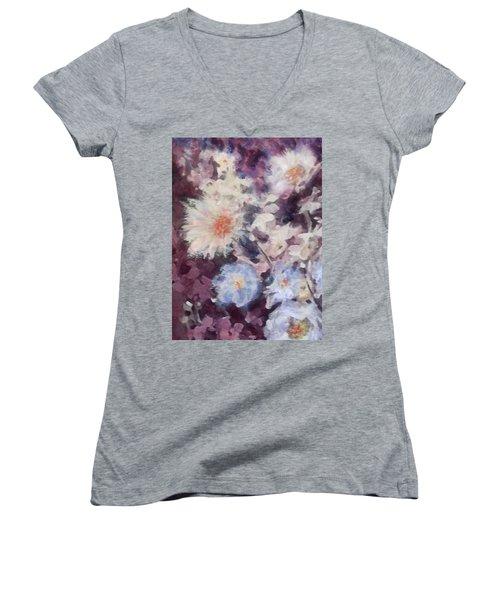Flower  Burst Women's V-Neck T-Shirt